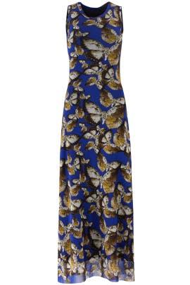 Cobalt Printed Maxi Dress by Fuzzi