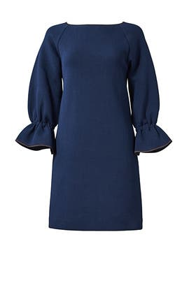 Navy Elsa Dress by Osman