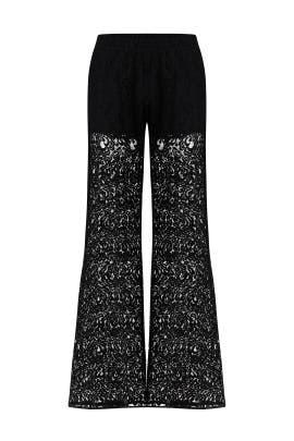 Sallie Black Lace Pants by PINKO