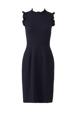 Navy Spring Ruffle Dress by Rebecca Taylor