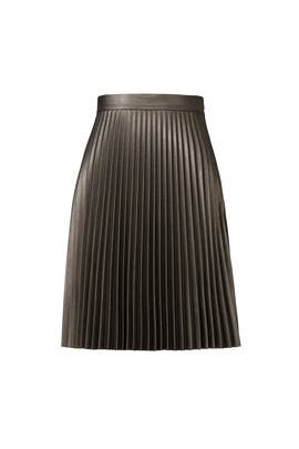 Gunmetal Faux Leather Skirt by Slate & Willow