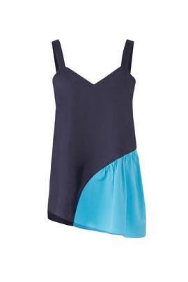 Blue Colorblock Tank by Tibi