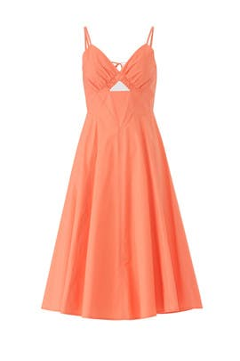 Orange Lindey Dress by ASTR
