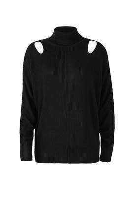Black Cutout Sweater by ella moss