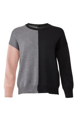 Colorblock Crew Neck Sweater by Fuzzi