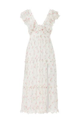 Blush Floral Midi Dress by Hemant & Nandita
