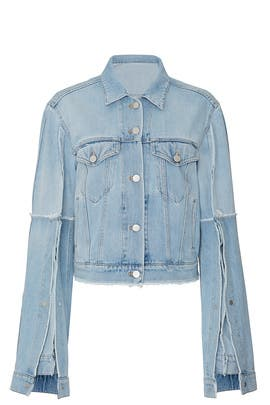 Split Denim Jacket by Rokh