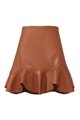 Faux Leather Skirt by Rebecca Taylor