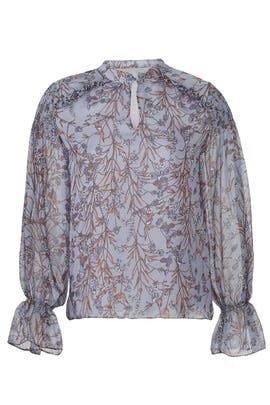Blue Floral Blouse by Slate & Willow