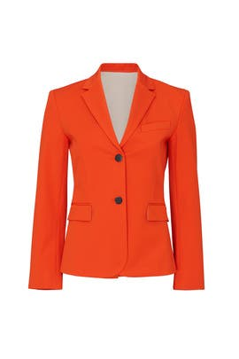 Fire Opal Shrunken Blazer by Theory