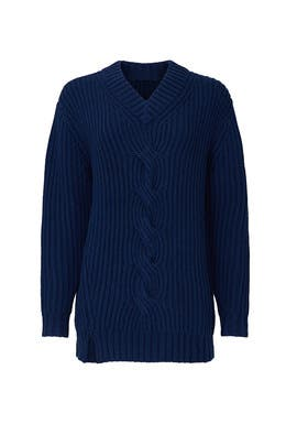 Navy Pullover Sweater by Thakoon Collective
