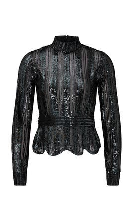 Sheer Sequin Top by Derek Lam 10 Crosby