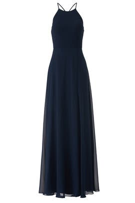 Navy Blue Kayla Gown by Jenny Yoo