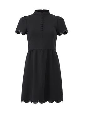 Black Scalloped Dress by RED Valentino