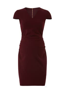 Burgundy Maternity Sheath by Slate & Willow