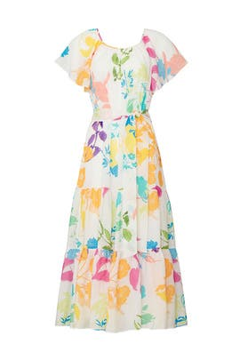Printed Ella Dress by Tanya Taylor