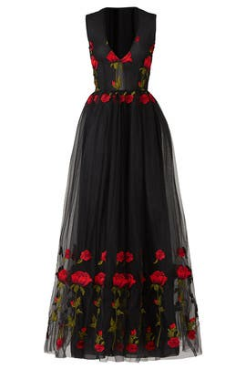 Red Rose Cake Dress by Alcoolique