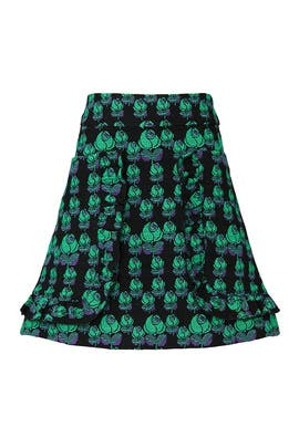 Mod Rosette Skirt by Anna Sui