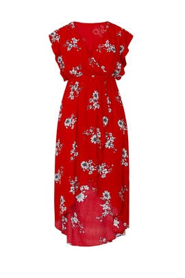 Floral Printed Wrap Midi by City Chic