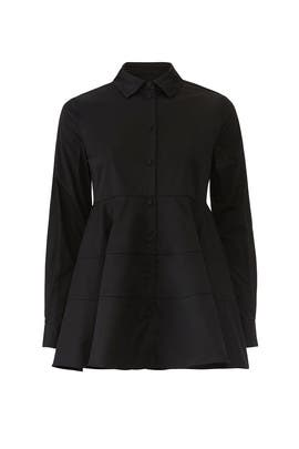 Black Tiered Button Down by Co