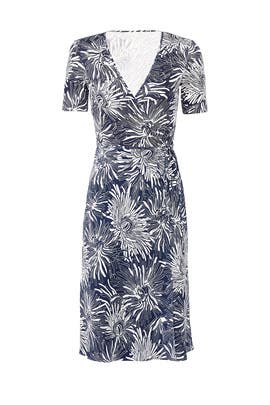 Navy Flare Wrap Dress by Diane von Furstenberg