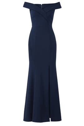 Navy Sweetheart Gown by LM Collection