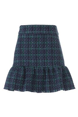 Plaid Tweed Flounce Skirt by Sail to Sable