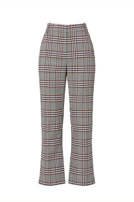 Plaid Straight Leg Trousers by Derek Lam 10 Crosby