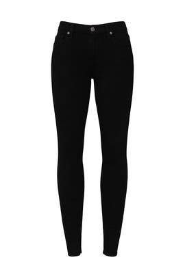 Black Ankle Skinny Jeans by 7 For All Mankind