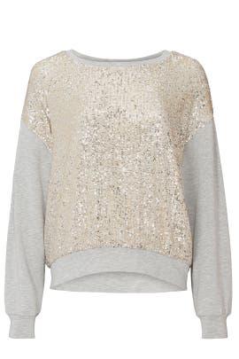 Sequin Contrast Sweatshirt by Fifteen Twenty