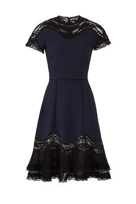 Applique Ruffle Hem Tee Dress by Jonathan Simkhai