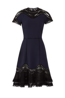 Applique Ruffle Hem Tee Dress by Jonathan Simkhai