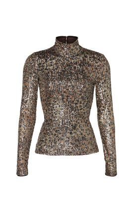 Greta Sequin Turtleneck by Jonathan Simkhai