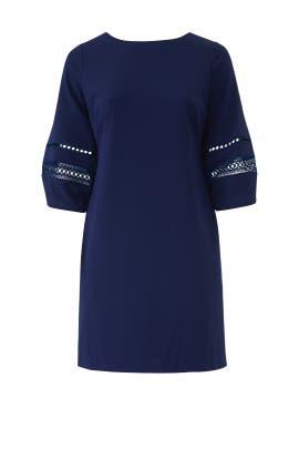 Blue Courtenia Dress by Lauren Ralph Lauren