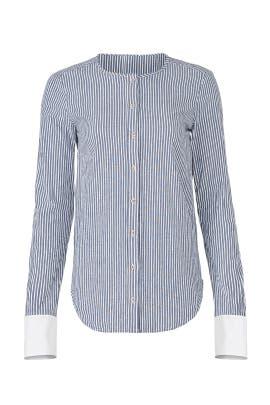 Contrast Cuff Shirt by Michael Stars