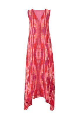 Abstract V-Neck Dress by N Natori