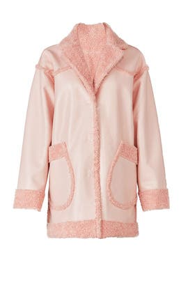 Pink Pearl Patent Coat by Opening Ceremony