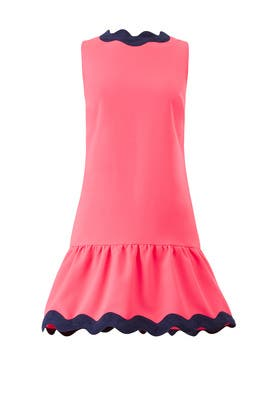 Neon Pink Drop Waist Dress by Sail to Sable