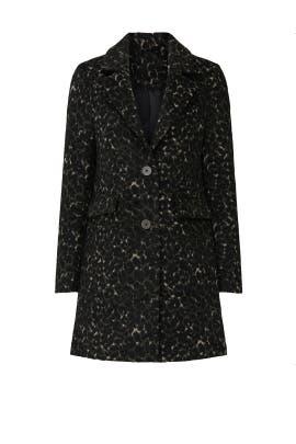 Black Leopard Wool Jacket by Slate & Willow