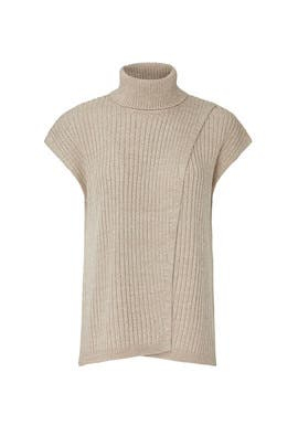 Camel Cross Front Turtleneck by Thakoon Collective