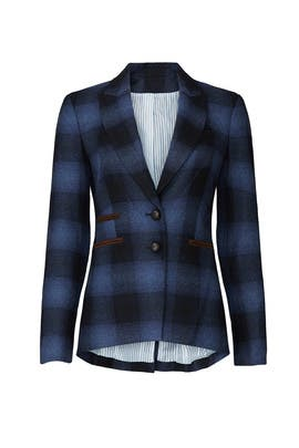 Plaid Hudson Blazer by Veronica Beard