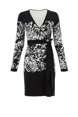 Graphic Leandra Wrap Dress by Diane von Furstenberg