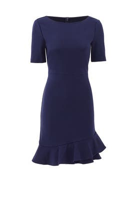 Navy Serafina Dress by Diane von Furstenberg