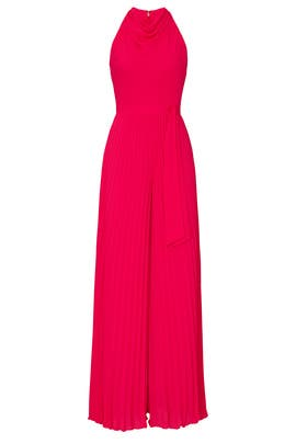 Sleeveless Cowl Neck Flowy Leg Jumpsuit by Halston Heritage
