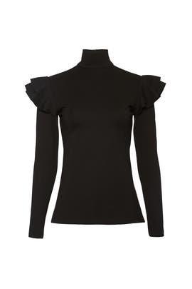 Black Mason Knit Top by Hunter Bell