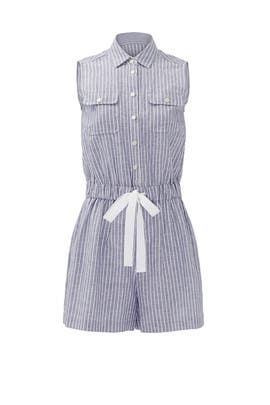 Linen Cotton Stripe Romper by kate spade new york