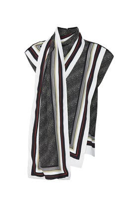 Black Printed Scarf Top by Proenza Schouler