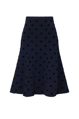 Navy Polka Dot Skirt by Thakoon Collective