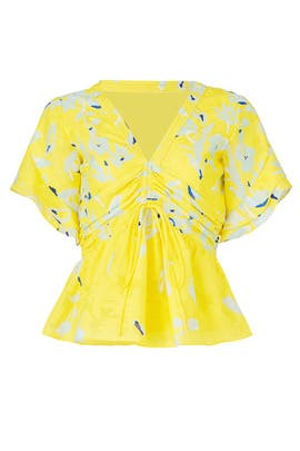 Yellow Fabiana Top by Tanya Taylor