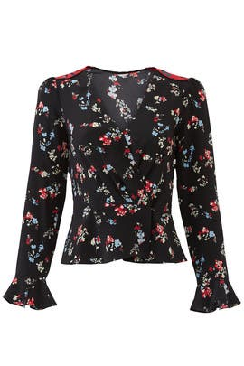 Floral Clusters Clio Top by Tanya Taylor